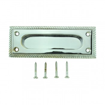 <PRE>2 Georgian Rope Solid Brass Sash Lift Chrome Rectangular 5inch </PRE>zoom8