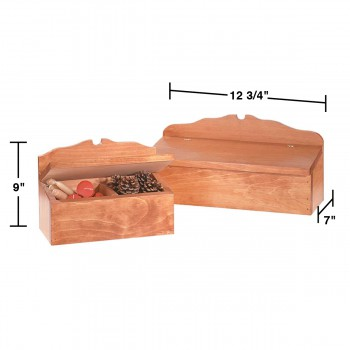 spec-<PRE>Wooded Colonial Style Letter Box/Candle Box </PRE>