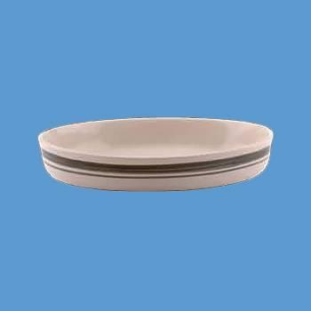 """<PRE>Stoneware Green/Natural Casserole Dish 10.5inch x 13.75"""" Poland</PRE>zoom2"""
