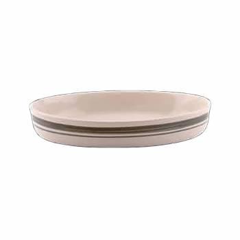 Stoneware Green/Natural Casserole Dish 10.5