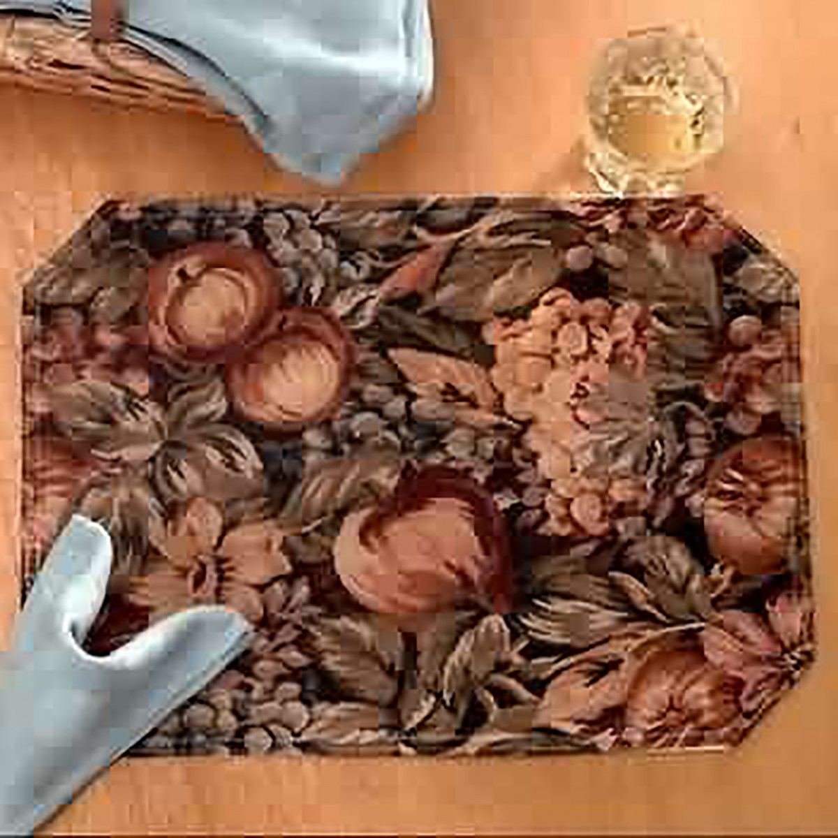 Kitchen Placemats Fruitful Harvest Polyester Set of 4 Placemats Placemat Cotton Placemat