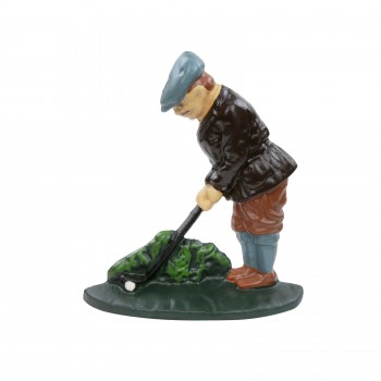 Door Stop Play Golf Cast Iron Door Wedge 7 12 H figurine iron door stop unique antique door stop Weighted Door Stop Bumper