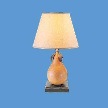 Table Lights - Table Lamp Wood Pear Parchment Shade by the Renovator's Supply
