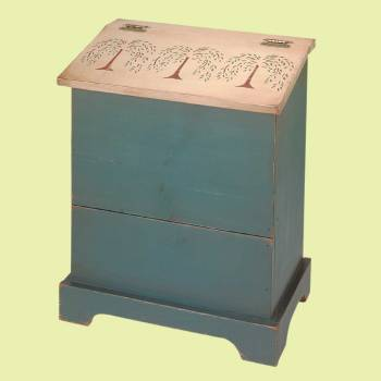 <PRE>Kitchen Storage Green/Natural Single Bin 25.5&quot;H x 20&quot; W </PRE>