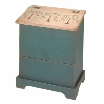 Kitchen Storage Green/Natural Single Bin 25.5