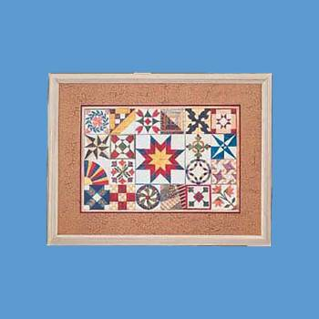 "spec-<PRE>Prize Quilt Print Wood Frame 35.5"" x 27.5"" Wall Art </PRE>"