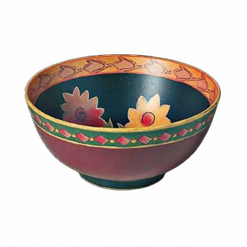 Stoneware Bowl Colorful Green Decorative 4.75 H x 10 D Decorative Bowl Decorative Bowls Stoneware Bowl