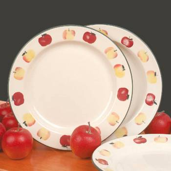 Stoneware Decorative Ceramic White Plate Country Apple 10 Apple Stoneware Dinner Plate Kitchen Stone Ware 10 Dish