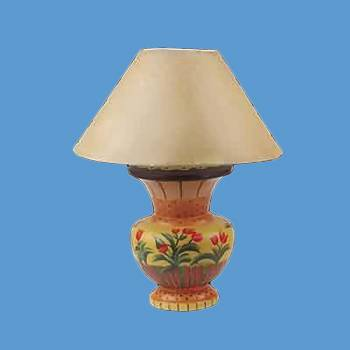 Colorful Tulip Vase Lamp - Floor Heat Registers, Aluminum, steel, wood and brass Floor heat registers info & free shipping by Renovator's Supply.