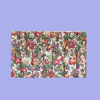 <PRE>Cotton Polyester Valance Flower Fruit Bird 20inchH x 49&quot;W </PRE>zoom2