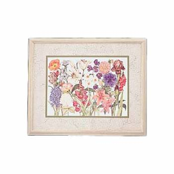 Wall Art Hyacinth Print Wood Frame 34.5