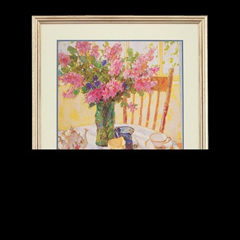 Wall Art Lilac Tea Setting Print Framed Wall Prints Framed Art Decoratvie Framed Art