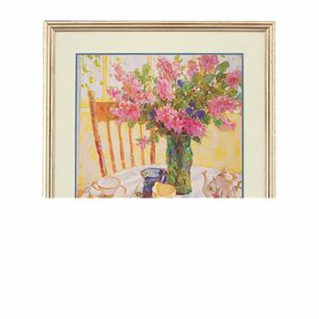 <PRE>Wall Art Lilac Tea Setting Print Framed </PRE>zoom1