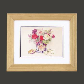 "<PRE>Floral Print Wood Frame Set of 4 9.5inch x 11.5"" Wall Art </PRE>zoom2"