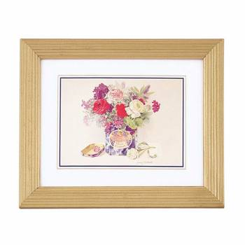 "<PRE>Floral Print Wood Frame Set of 4 9.5inch x 11.5"" Wall Art </PRE>zoom1"