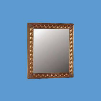 <PRE>Vintage Vanity Mirror Rectangle Brass Roped </PRE>zoom2