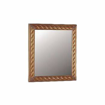 <PRE>Vintage Vanity Mirror Rectangle Brass Roped </PRE>zoom1