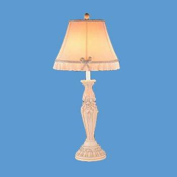 Table Lamp Cream Cast Plaster Lamp 22H Lamp Table Lights Lamps