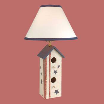 Table Lights - Table Lamp Birdhouse Lamp Hand painted by the Renovator's Supply