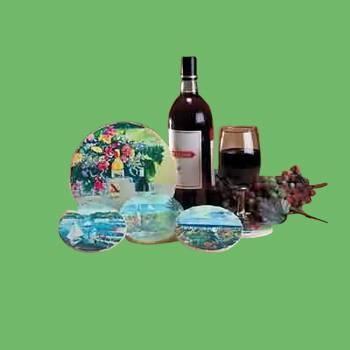 <PRE>Coaster Sandstone Wine Trivet 7inch D Coaster </PRE>zoom2