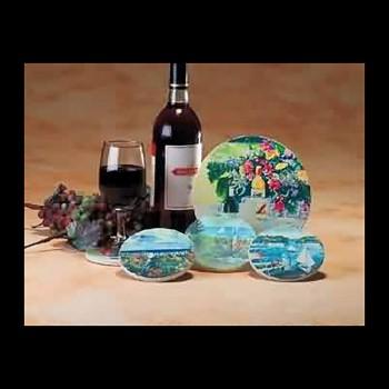 <PRE>Coaster Sandstone Wine Trivet 7inch D Coaster </PRE>zoom3