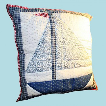 <PRE> Cotton Square Pillow Lighthouse Blue 16inch </PRE>zoom2