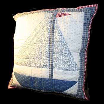<PRE> Cotton Square Pillow Lighthouse Blue 16inch </PRE>zoom3