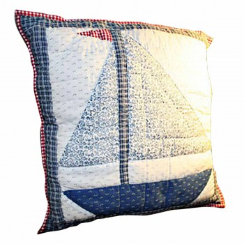 Cotton Square Pillow Lighthouse Blue 16