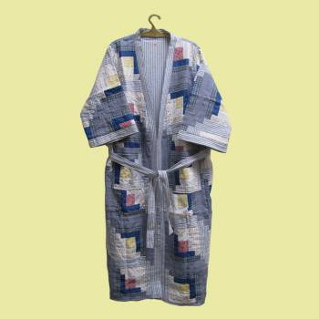 <PRE>Bath Robe Sail Style Cotton Medium 50&quot; x 60&quot; </PRE>