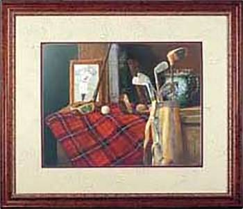 Wall Art Old Friends Golf Print Framed 30