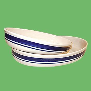 spec-<PRE>Poland Stoneware Blue Natural Casserole Dish 2 Piece set </PRE>