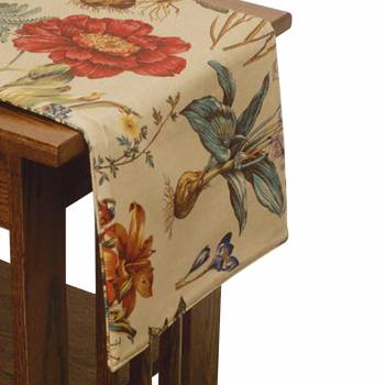 Botantical Cotton Table Cloth 13 x 54 Tablecloth Tablecloths Decorative Tablecloth