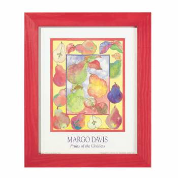 Framed Print Margo Davis Primary Pear Print 13.5 x 16.5 Wall Prints Framed Art Decoratvie Framed Art