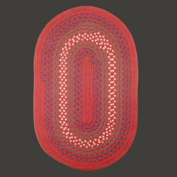 Red Nylon Kichen Oval Area Rug 5 x 3 carpet oval circles indoor outdoor braided area rug nylon red kitchen Braided Area Rugs