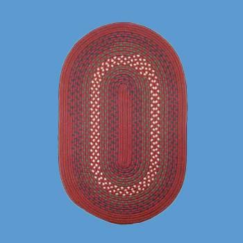 <PRE>Kitchen Red Nylon Oval Area Rug 6' x 4' </PRE>zoom2