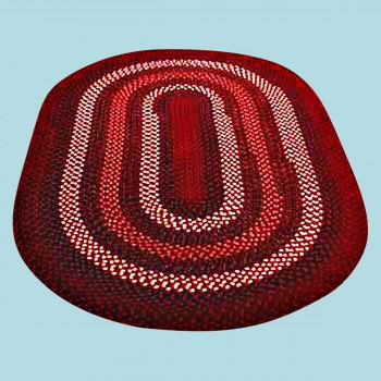 <PRE>Oval Area Rug 6' x 4' Red Nylon </PRE>