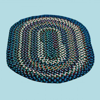 spec-<PRE>Oval Area Rug 9' x 7' Blue Nylon </PRE>