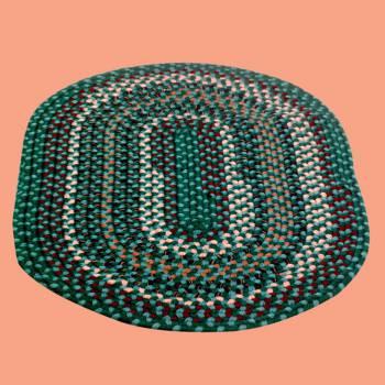 <PRE>Oval Area Rug 3' x 2' Green Nylon </PRE>