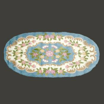 Oval Area Rug 5 x 3 Blue Wool Rugs Rug Decorative Rugs