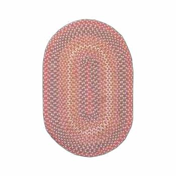 Oval Area Rug 11' x 8' Red Nylon 64266grid