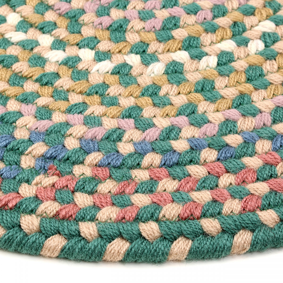 Kitchen Rug Nylon Braided Blue 2 x 3 braided area rug nylon green kitchen carpet oval circles indoor outdoor Braided Area Rugs
