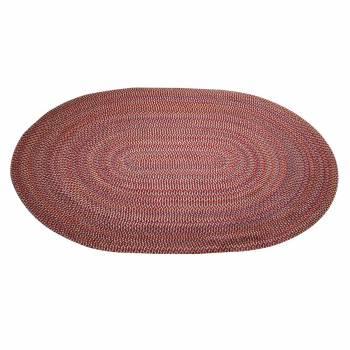 <PRE>Oval Area Rug 9' x 7' Red Nylon </PRE>