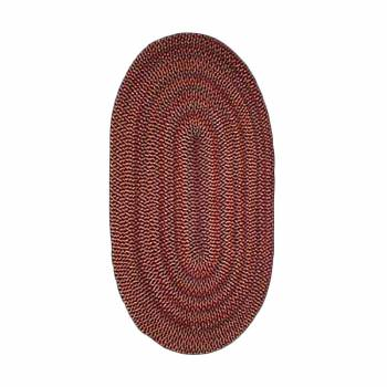 Oval Area Rug 11' x 8' Red Nylon 64286grid