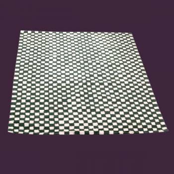 <PRE>Rectangular Area Rug 9' x 6' Green Cotton </PRE>zoom2