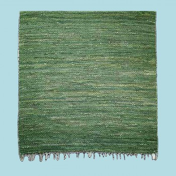 spec-<PRE>Rectangular Area Rug 6' x 4' Green Cotton </PRE>