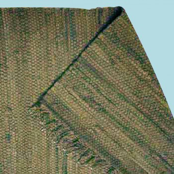 <PRE>Rectangular Area Rug 6' x 4' Green Cotton </PRE>zoom2