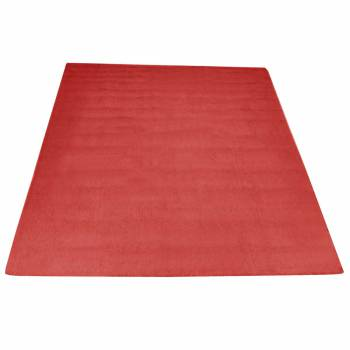 Rectangular Area Rug 5' x 3' Red Cotton 64368grid