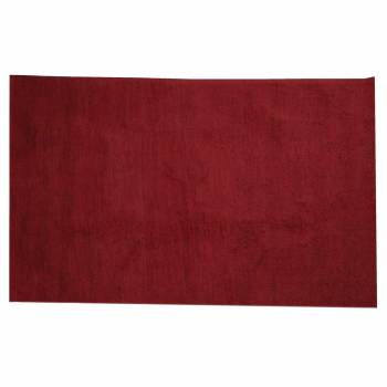 Rectangular Area Rug 6' x 4' Red Cotton 64369grid