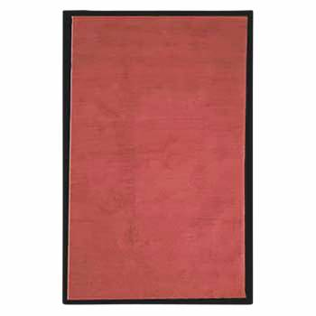 Rectangular Area Rug 9' x 6' Red Cotton 64370grid