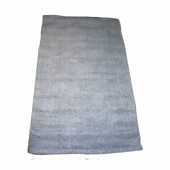 Rectangular Area Rug 9' x 6' Blue Cotton 64374grid